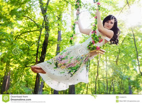 swing swing swing on a summer day lyrics young woman swinging in summer park stock image image