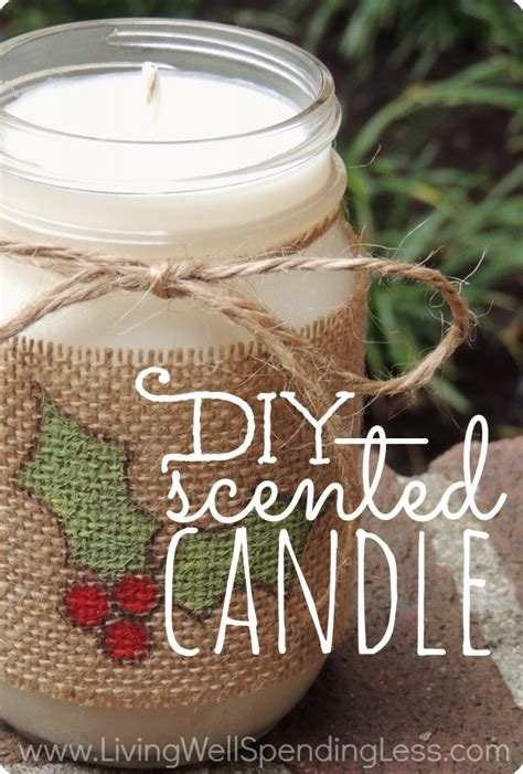 How To Make Handmade Candles - diy scented candle handmade gifts ideas scented candles
