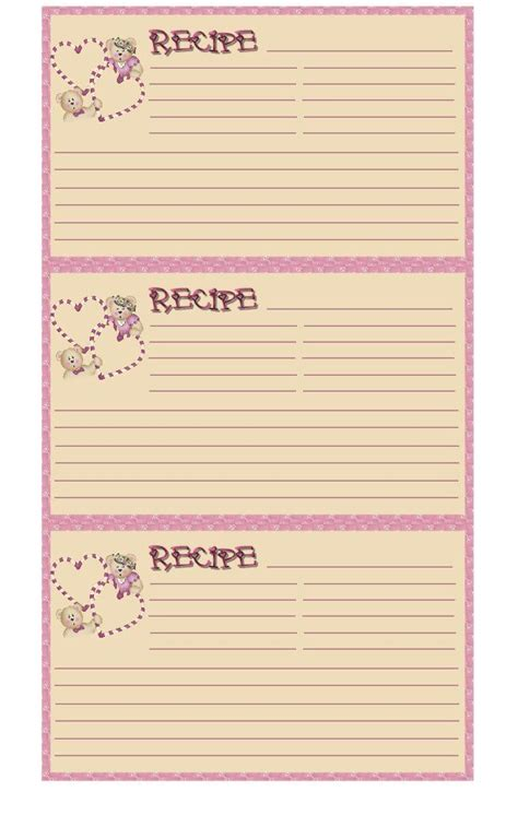 printable disney recipe cards 281 best images about recipe cards index cards etc on