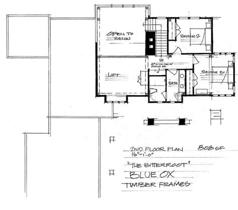 the bitteroot timber frame home floor plan blue ox the bitteroot timber frame home floor plan blue ox