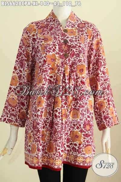 Pari Cape Batik baju batik wanita dewasa blus batik bahan motif