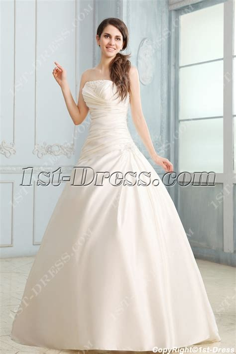 Wedding Gown Fabulosity On A Budget by Fabulous Strapless A Line Satin Corset Wedding Dress 1st