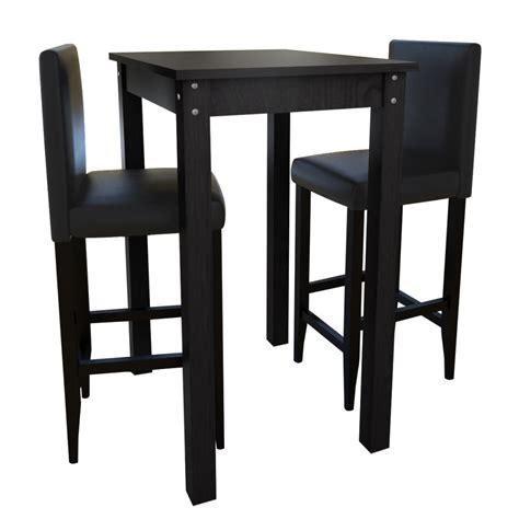 si鑒e de table der 2 barhocker mit bartisch set essgruppe design schwarz