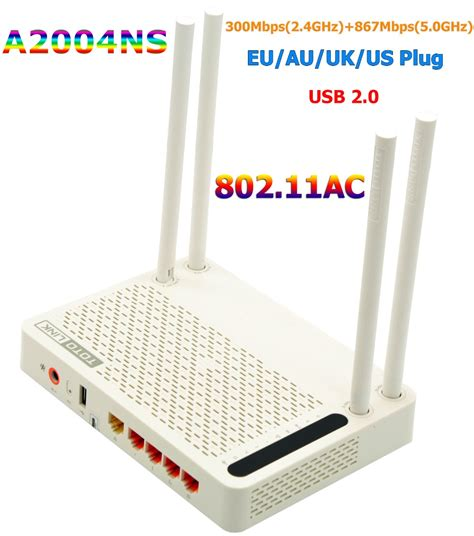 Totolink A2004ns Wireless Router Ac Dual Band Putih totolink a2004ns 802 11 ac 1200mbps dual band 2 4ghz 5ghz wireless gigabit router wifi router
