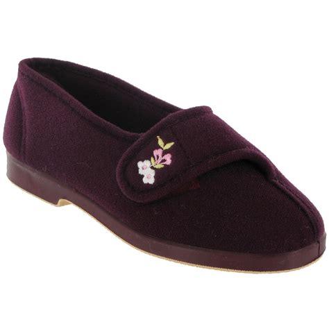 wide slippers gbs winnie wide fit womens indoor house slipper
