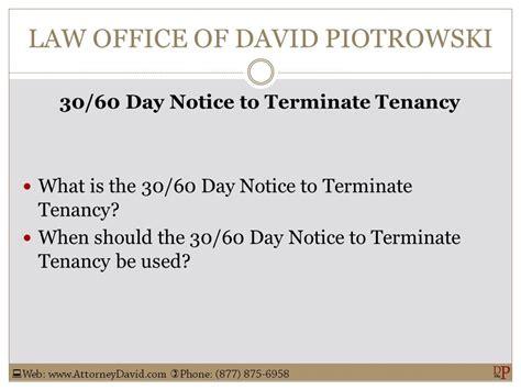 Tenant Eviction Ventura County California 30 60 Day Notice To Terminate Tenancy Sle