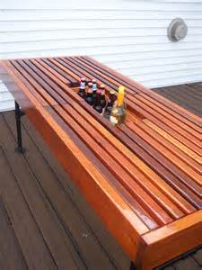 Patio Table With Built In Cooler For Sale by Cedar Outdoor Table With Built In Wine Amp Beer Cooler With