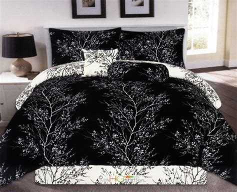 black and white tree comforter luxurious black and white comforters for your bedroom