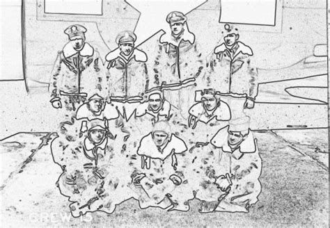 J Cbell Sketches by 458th Bombardment H Crewmorrisd