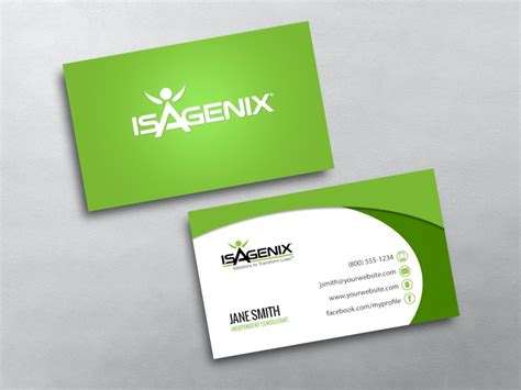 Isagenix Business Card Template by Isagenix Business Cards Free Shipping