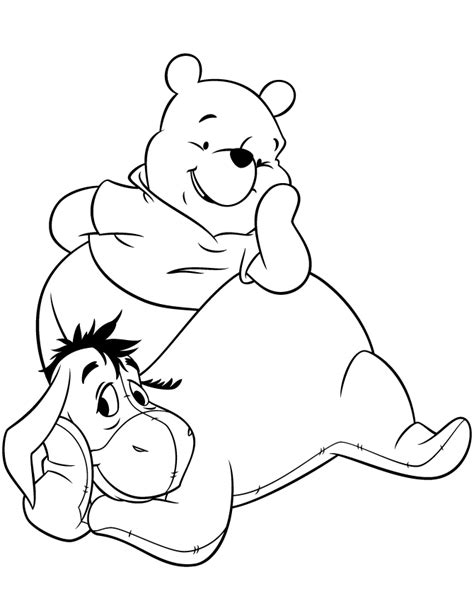 pooh bear and friends coloring pages coloring home