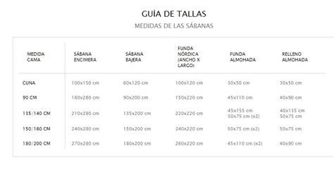 edredones ocu gu 237 a de tallas medidas de las s 225 banas v 237 a zara home