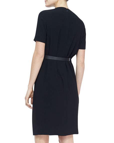 burberry sleeve side belt shift dress