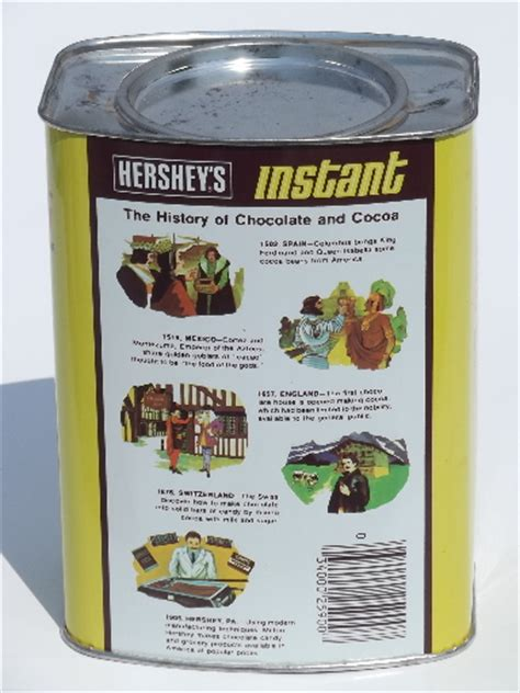 It Up Get Instant Chocolate Milk From A Straw by Retro Vintage Hershey S Instant Chocolate Milk Drink Tin