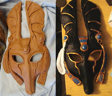 anubis mask template pin jackal mask template on