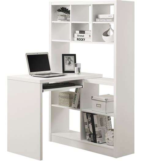white corner computer desk desk with bookcase white roselawnlutheran