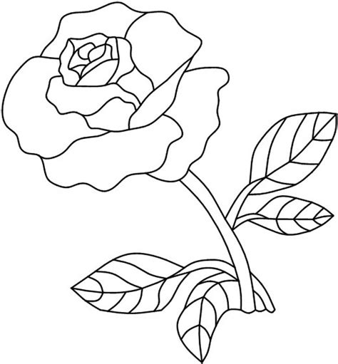 single rose coloring page stained glass patterns flowers single red rose