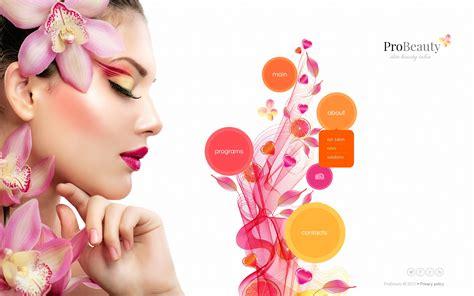 beauty sites beauty salon website template 45344