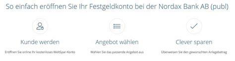 deutsche bank festgeldanlage nordax festgeld im test festgeldanlage ab 2 000
