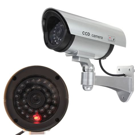 1 2pcs wireless dummy led cctv home security