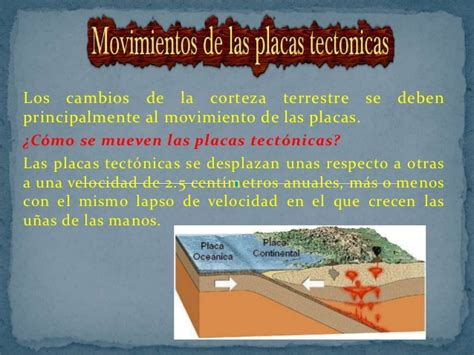 foto de las placas tectonicas movimientos de las placas