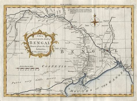 bengal india map and antique prints and maps india bengal map by