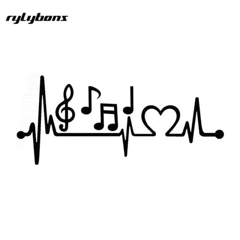 heart beat music rylybons music heartbeat line car stickers vinyl demors 21