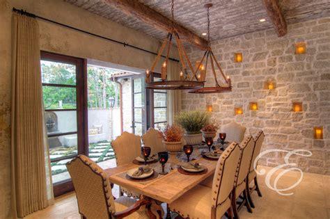 tuscan farmhouse mediterranean dining room houston