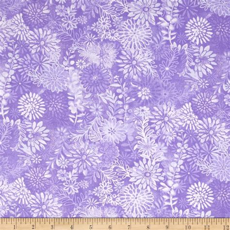 Quilt Fabric by 44 Quot Wide Quilt Packed Floral Purple Discount Designer