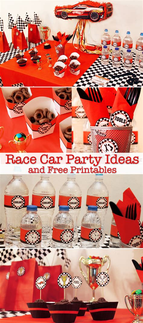 printable cars party decorations race car party ideas and free printables growing up