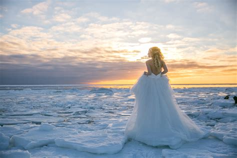 Winter Storm Sets Magical Scenery for Cape Cod Bridal Shoot Ethereal Island