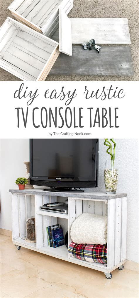 easy diy console table diy easy rustic tv console table the crafting nook by