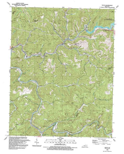 usgs topographic map vicco topographic map ky usgs topo 37083b1