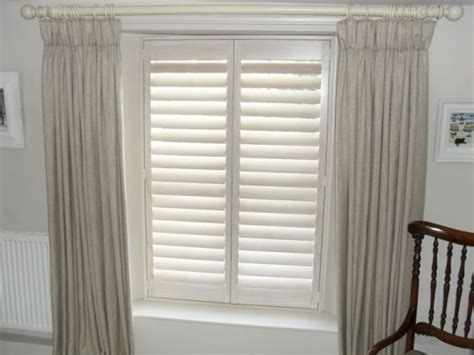 shutters with curtains shutters curtains and poles gallery just fabrics