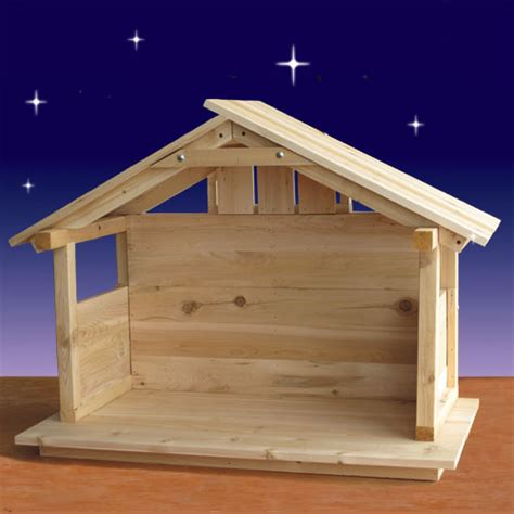 how to build an outdoor manger for a nativity wood nativity stable outdoor 30 quot high