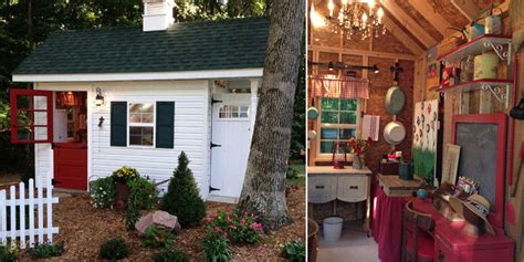 Homes Decorated For Halloween Garden Shed For A Teacher She Shed With Teacher Decor