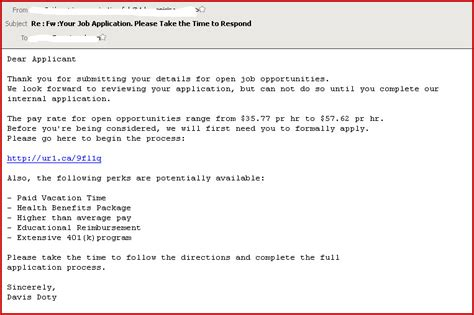 email format to apply for a job online job application scam omniquad security blog