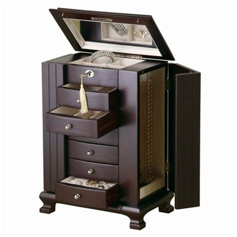 Fully Locking Jewelry Armoire by Armoires Awesome Locking Jewelry Armoires Design Locking