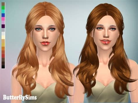 butterfly sims hair sims 4 hair 091 pay by yoyo at butterfly sims 187 sims 4 updates