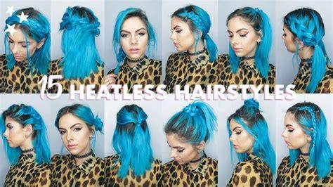 quick easy heatless hairstyles  short hair youtube