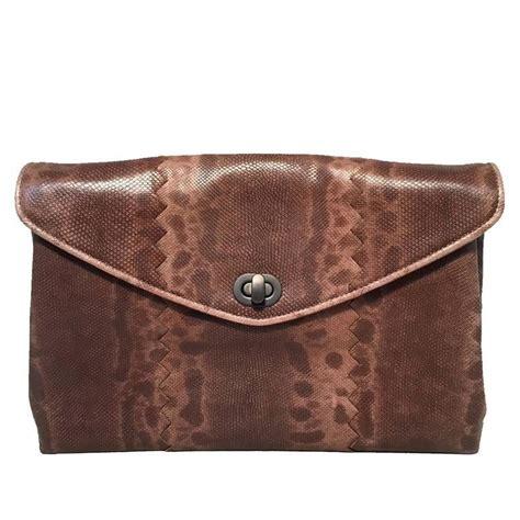 Bottega Veneta Lizard Clutch Purses Designer Handbags And Reviews At The Purse Page by Bottega Veneta Brown Lizard Leather Clutch For Sale At 1stdibs