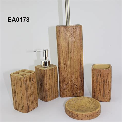 wooden bathroom accessories material bathroom set hotel bathroom set bathroom