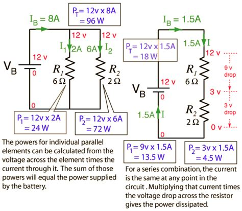 parallel circuits power electric power