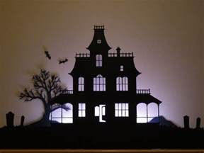 Haunted House Outline by Birshykat Haunted House Silhouette