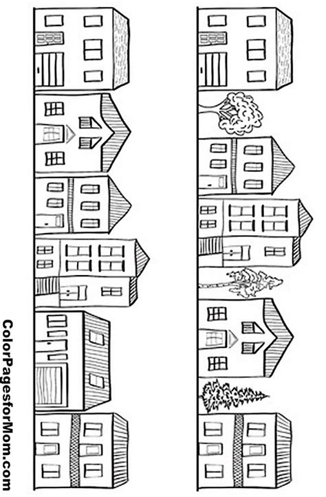 row house coloring pages house coloring page 11