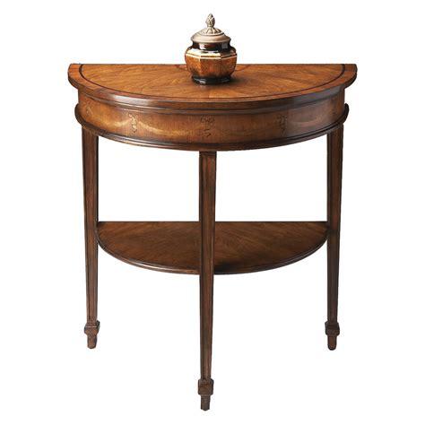 half round sofa table shop butler specialty heritage cherry half round console