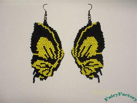 butterfly beaded earrings earrings butterfly effect beaded seed