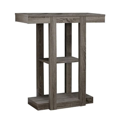 hall accent table monarch hall 32 quot three tiered console accent table in dark