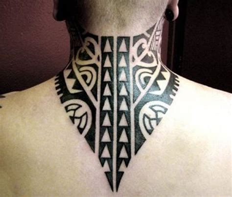 tribal tattoos back neck 63 realistic tribal neck tattoos