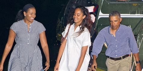 michelle obama family obama family arrives home from summer vacation barack